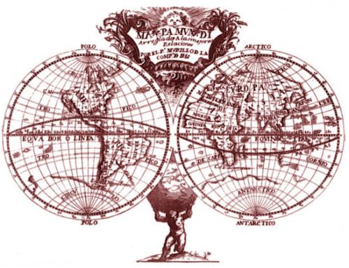 Mapamundi de Murillo Velarde, antecedente de los Atlas producidos por figuras de la Escuela Escuela Universalista del Siglo XVIII